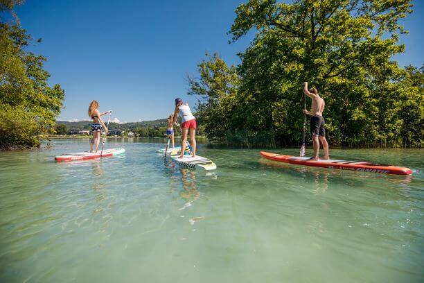 Stand Up Paddlen (SUPen) am Wörthersee